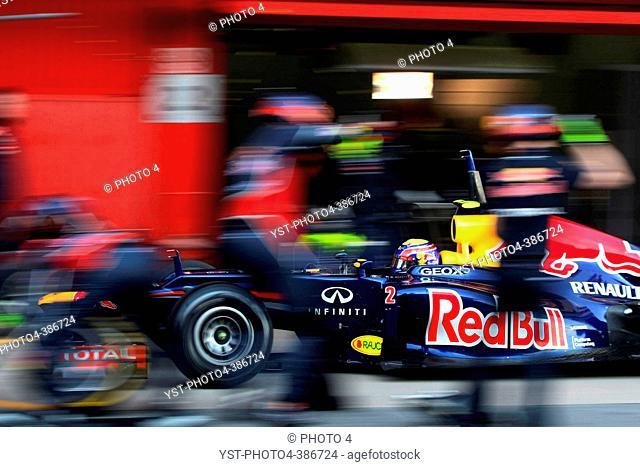23.02.2012, Barcelona, Spain, Mark Webber AUS, Red Bull Racing - Formula 1 Testing, day 3 - Formula 1 World Championship