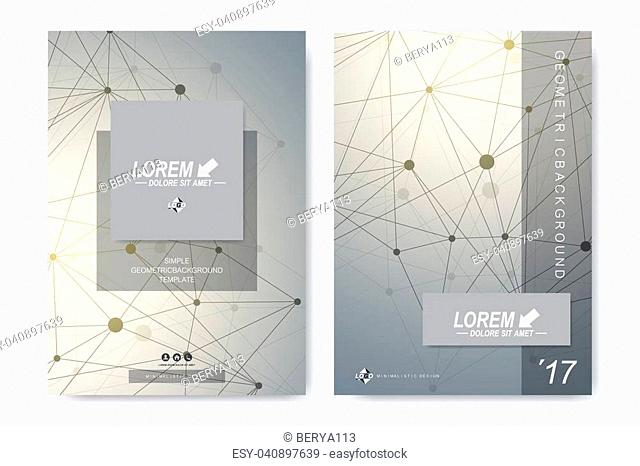 Modern vector template for brochure Leaflet flyer advert, cover, catalog, magazine or annual report. Business, science, medical design