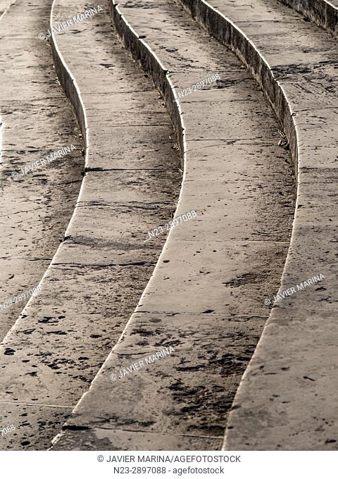 Stairs in the Pont de la Mar (Bridge of the Sea), Valencia, Spain