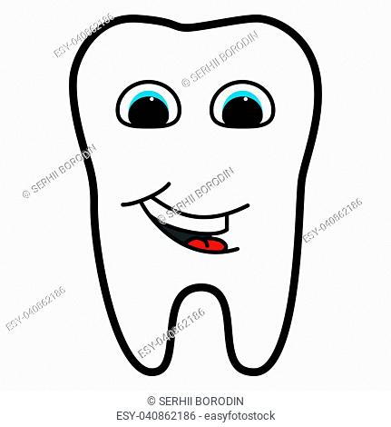 Tooth is smiling for medicine set