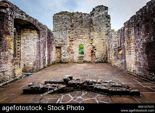 The ruins of Dryburgh Abbey, Scottish Borders, Scotland - the burial place of Scottish writer Sir Walter Scott who died in 1832