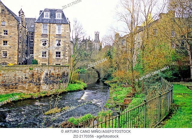 Dean Village, Edinburgh, Scotland, United Kingdom