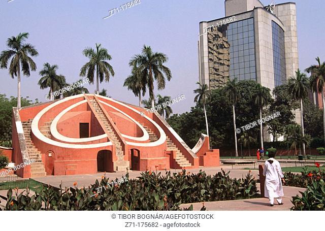 Jantar Mantar old astronomical observatory. New Delhi. India