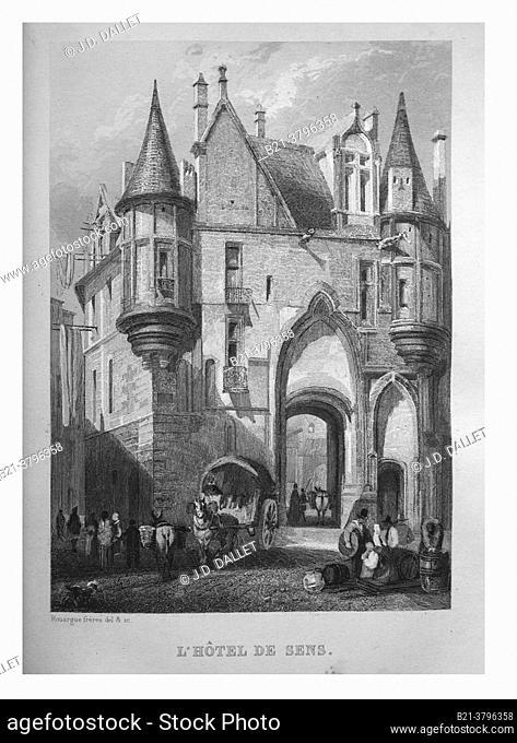 France,  in Histoire de Paris, 1839 , L'Hôtel de Sens