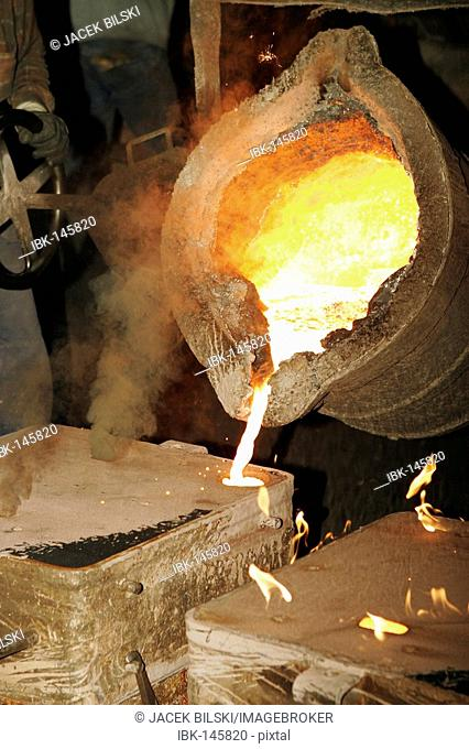 In a foundry
