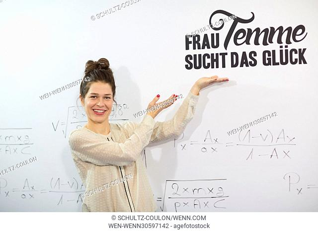 "Actors promoting the new Series """"Frau Temme sucht das Glueck"""" at Side Hotel Featuring: Meike Droste Where: Hamburg, Germany When: 09 Dec 2016 Credit:..."