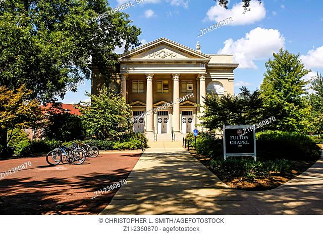 "The Fulton Chapel building on the campus of """"Ole Miss"""" - University of Mississippi at Oxford"