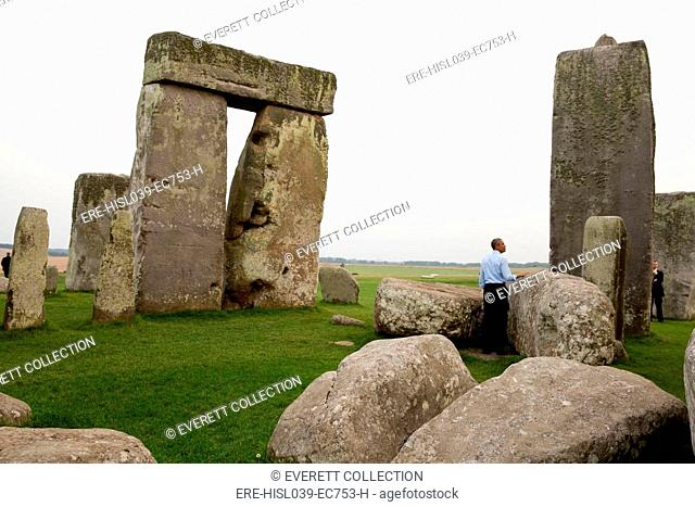 President Barack Obama at Stonehenge after the NATO Summit in Wales. Sept. 5, 2014 (BSLOC-2015-3-222)