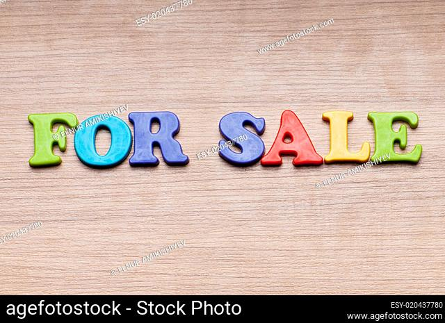 SALE word on the background
