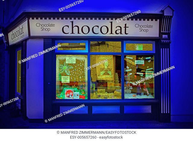 Ireland series in detail. Chocolat shop in Dublin