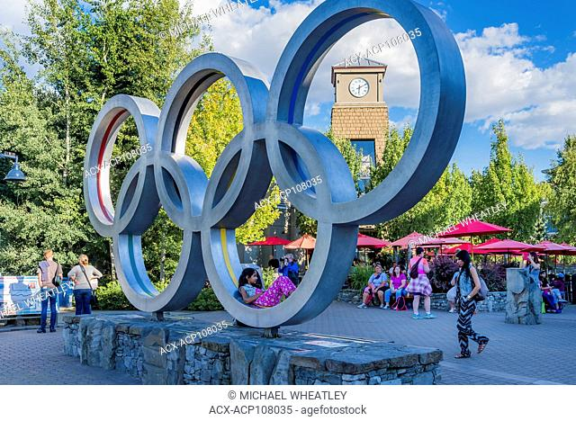 Olympic Rings, Whistler Olympic Plaza, Whistler Village, Whistler, British Columbia, Canada