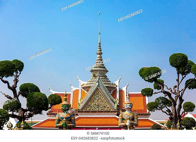 Temple of dawn entrance in Bangkok, Thailand
