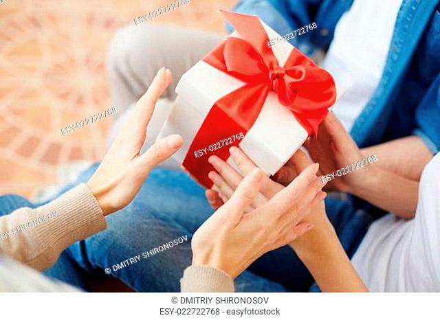 Taking gift