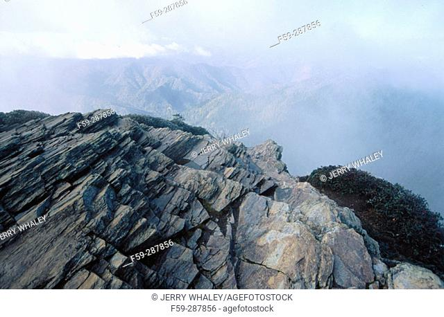 Cliff Tops at Mount Le Conte on frosty morning. Great Smoky Mountains National Park. Tennessee. USA