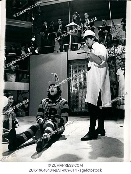 Apr. 04, 1964 - Beatles go Shakespearean : The Beatles are shortly to appear in a television show in which part of their performance will be an exerpt from 'A...