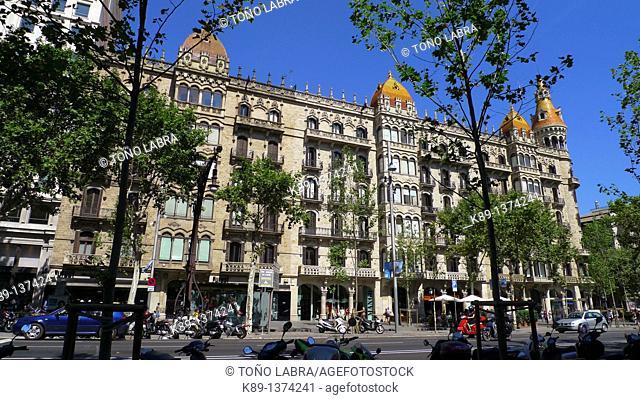Passeig Gràcia. Barcelona. Catalunya. Spain