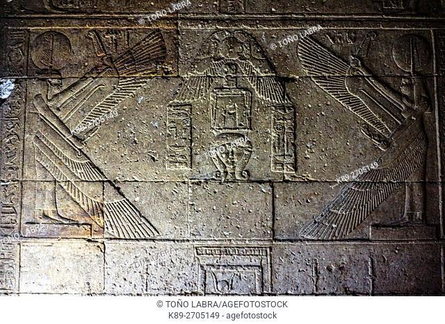 Dendera temple of Hathor goddess. Upper Egypt