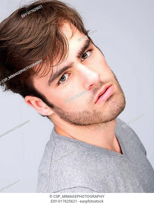 Attractive male fashion model
