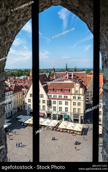 Estonia, Tallinn, view from the Town Hall Tower to the Town Hall Square