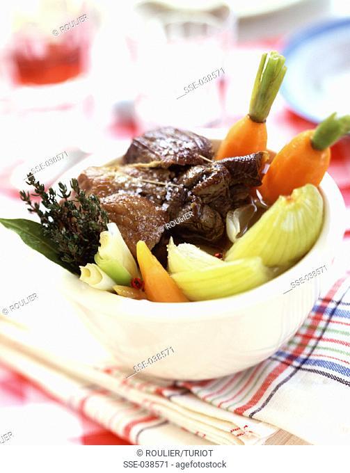Pot-au-feu beef and vegetable stew