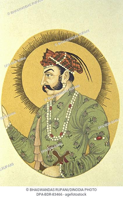 Portrait of mughal emperor jahangir , india