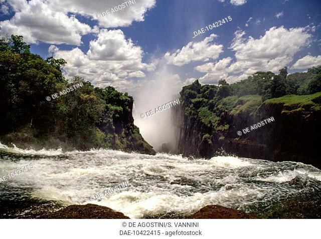Victoria Falls, Zambezi River (UNESCO World Heritage List, 1989), Mosi-oa-Tunya National Park, Zambia
