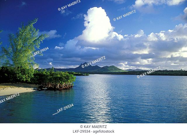 View from Ile aux Cerf at Mauritius, Ile aux Cerf, Mauritius, Indian ocean, Africa
