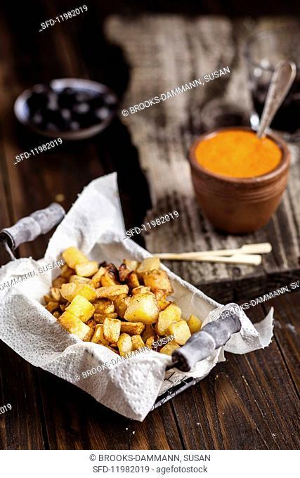 Tapas: patatas bravas with mojo rojo (Spain)