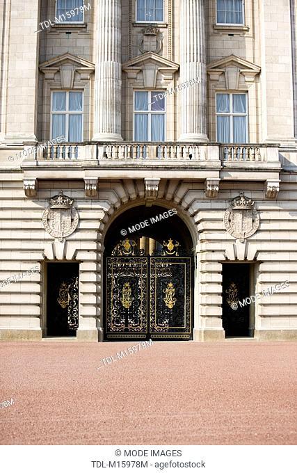 The balcony at Buckingham Palace, London