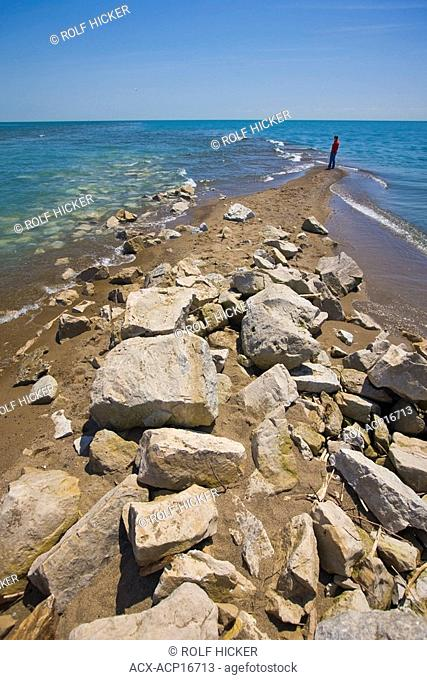 Southernmost point of mainland Canada at Point Pelee National Park, Lake Erie, Leamington, Ontario, Canada