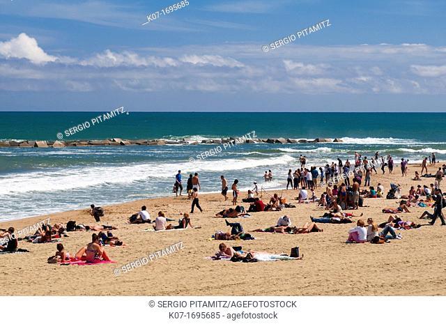 La Barceloneta Beach, Barcelona, Spain