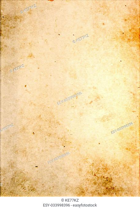 Aging dirty paper background. Natural old paper for the design