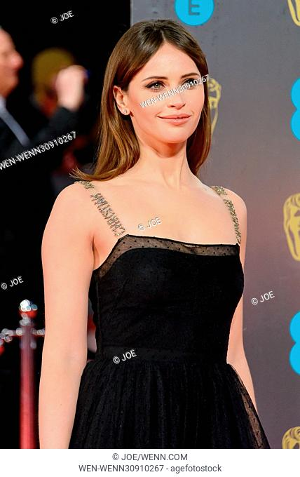 The 2017 EE British Academy Film Awards (BAFTAs) - Arrivals Featuring: Felicity Jones Where: London, United Kingdom When: 12 Feb 2017 Credit: Joe/WENN