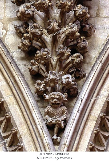 Lincoln, Kathedrale, ''The Lincoln Imp'', Teufelsdarstellung im Chor''