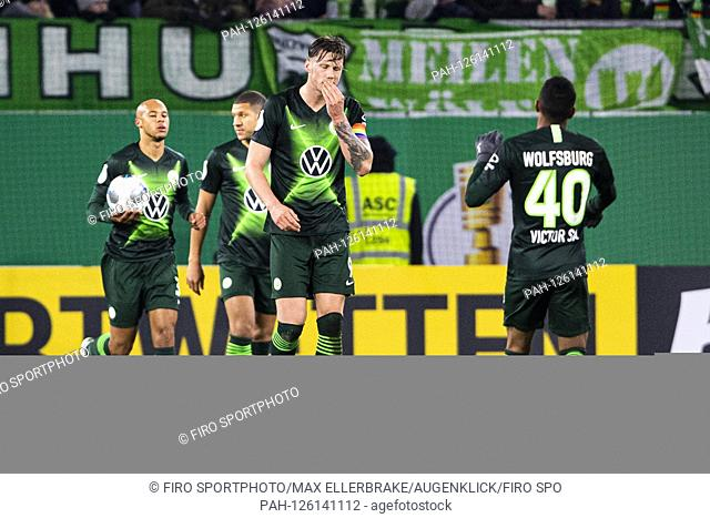 firo: 30.10.2019, Fuvuball, DFB Cup Round 2. 2019/2020, VfL Wolfsburg - RB Leipzig The team of VfL Wolfsburg is dissatisfied after the versustor to 1: 0