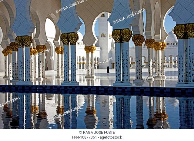 Sheikh Zayed mosque, tower, rook, Islam, mosque, religion, columns, Abu Dhabi, UAE, United Arab Emirates, Middle East, curve, traveling, place of interest