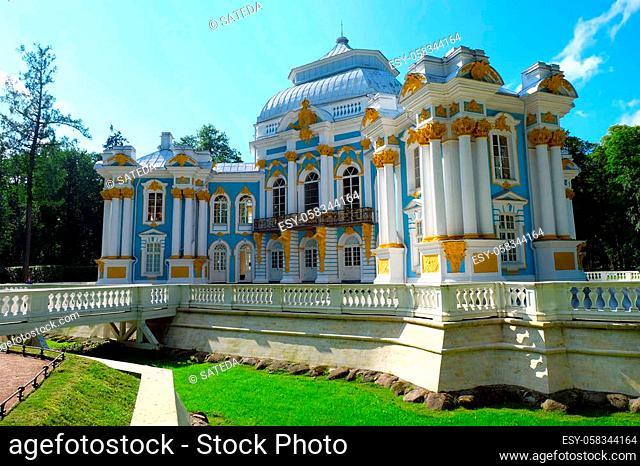 Pavilion Hermitage in Catherine park, Tsarskoe Selo (Pushkin). St Petersburg, Russia