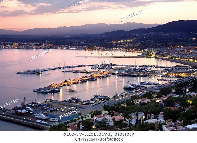 Roses Bay of Roses Costa Brava  Girona province  Catalonia  Spain