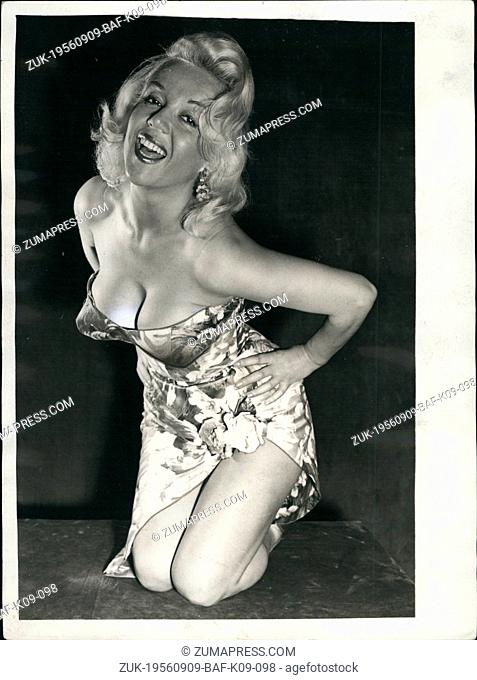 Sep. 09, 1956 - They call her the Marilyn: Popular Italian screen star Rosalina whohas been called the 'Marilyn Monroe of Italy' be seen at the Princess Theatre