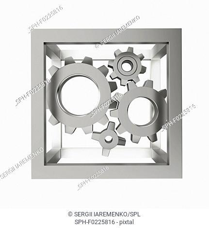 Gear mechanism, illustration