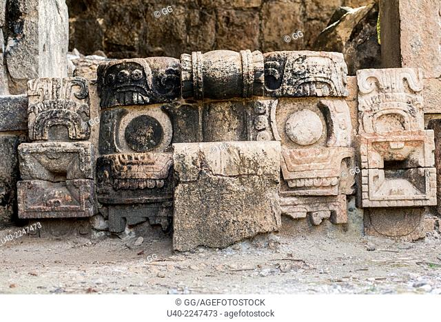 Mexico, Kabah ruins, carvings