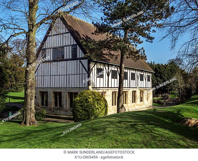 The Hospitium in Museum Gardens in Spring York Yorkshire England