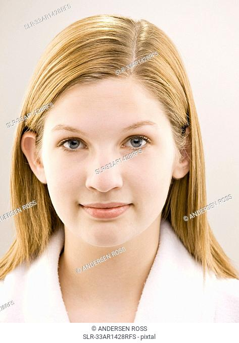Close up of girl?s smiling face