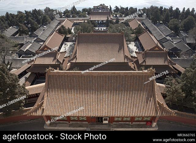 China, Beijing, Roof of Summer Palace
