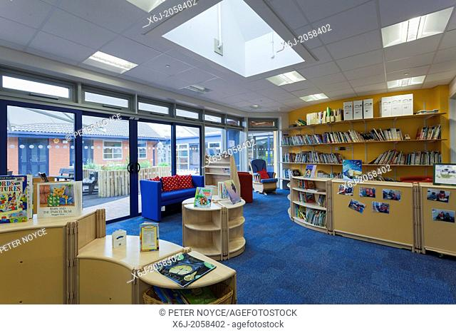 unoccupied school library in special needs unit