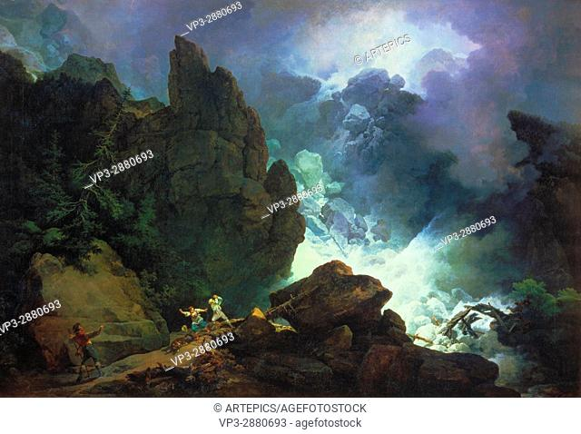 Phillip James De Loutherbourg - An Avalanche in the Alps