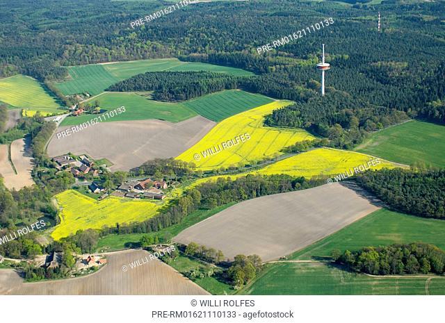 Dammer Berge from above, Vechta district, Oldenburger Münsterland, Lower Saxony, Germany / Dammer Berge von oben, Landkreis Vechta, Oldenburger Münsterland