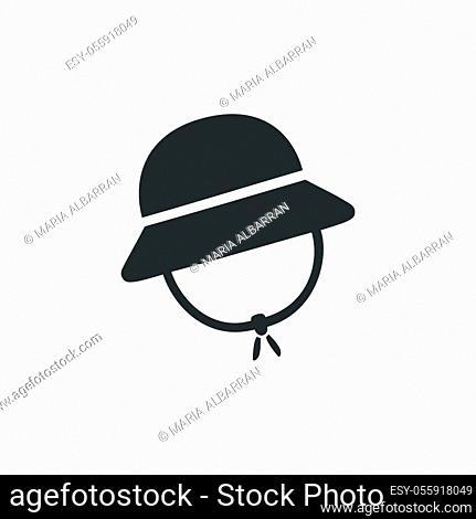 Rain cap. Isolated icon. Fall clothing flat vector illustration