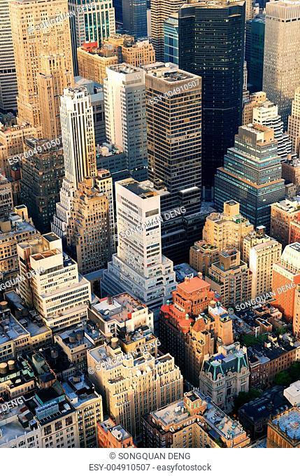 Manhattan aerial skyline