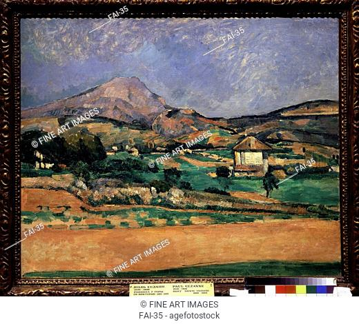 The Plain of the Mount Sainte-Victoire. Cézanne, Paul (1839-1906). Oil on canvas. Postimpressionism. 1882-1885. State A. Pushkin Museum of Fine Arts, Moscow